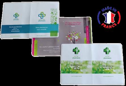 Fabricant de pochette plastique personnalisée pour pharmacie, porte ordonnance, porte carte vitale